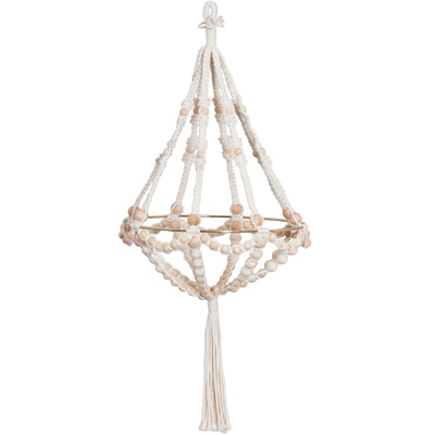 Solid Oak macrame beaded chandelier kit