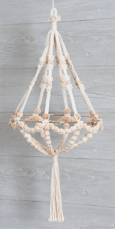 Beaded Chandelier kit, shown on grey wood background