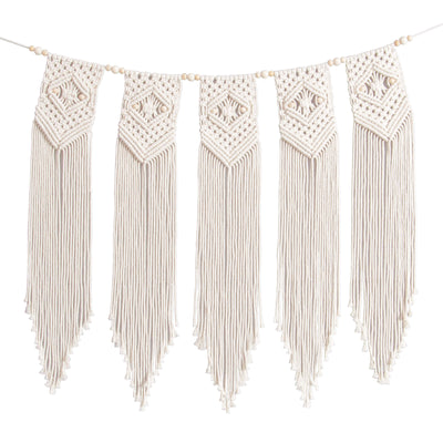Solid Oak macrame kit: Beaded Banner