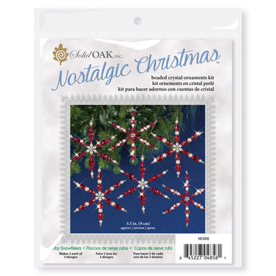 Nostalgic Christmas™ Ornament Kit - Ruby Snowflakes