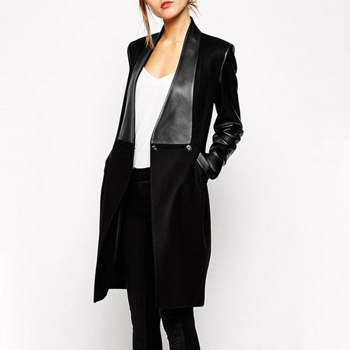 Decorative Hardware  Plain  Long Sleeve Coats