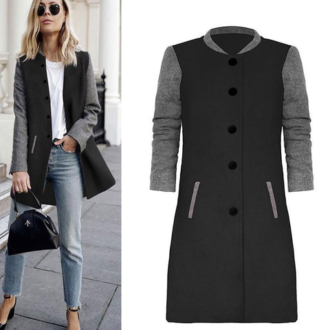 Retro Casual Woolen Coat Jacket Outwear