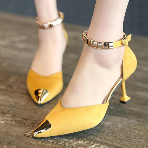 Stiletto  High Heeled  Faux Suede  Point Toe  Casual Pumps