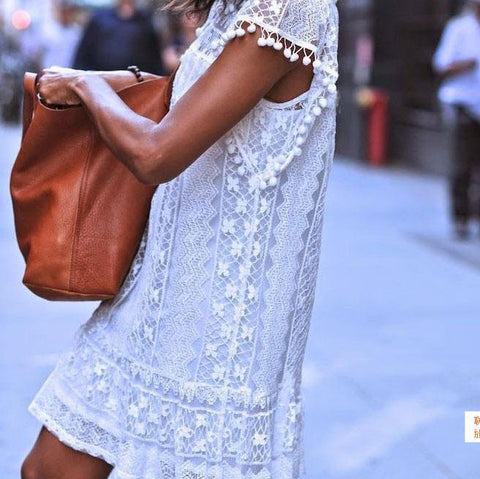 Fashion Lace Sleeveless Shift Dress