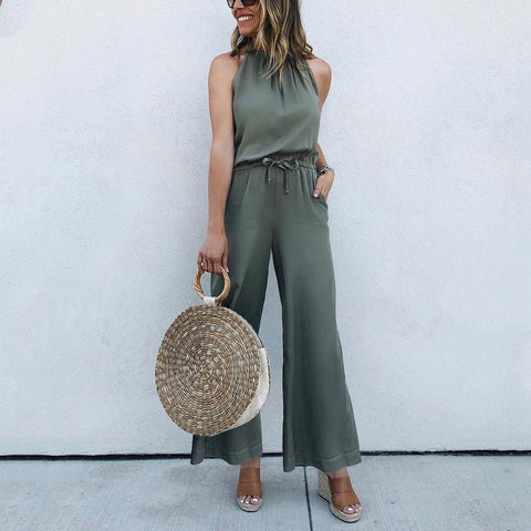 Sleeveless Breathable Sexy Jumpsuits