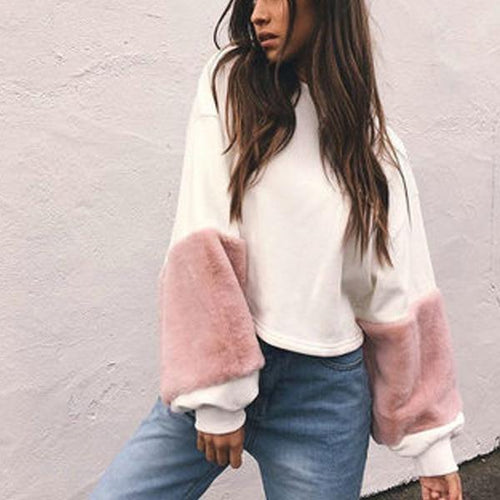 Loose Cute Plush Long Sleeve Sweatershirts