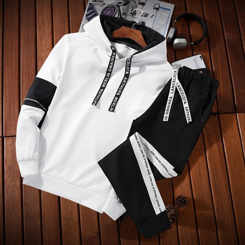 Men Hooded Sport Suit