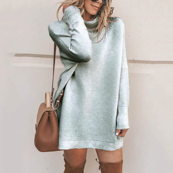 Fashion Stand Collar Sweater Dress Casual Dresses