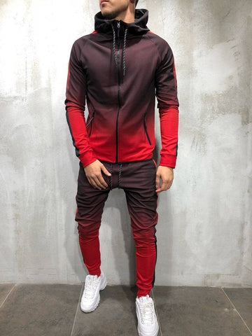 Mens Gradient Zipper Suit