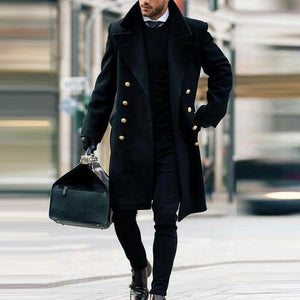 Men's British Style Woolen Coat