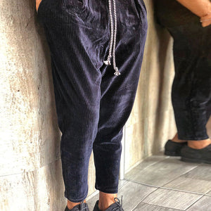 Casual striped color matching loose men's pants