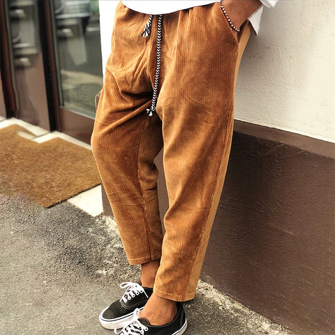 Contracted Temperament literary Corduroy Casual Trousers