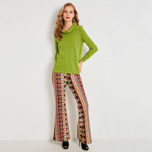 Geo Print Tribal Flare Pants