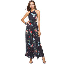 Black Sheer Floral Maxi Dress