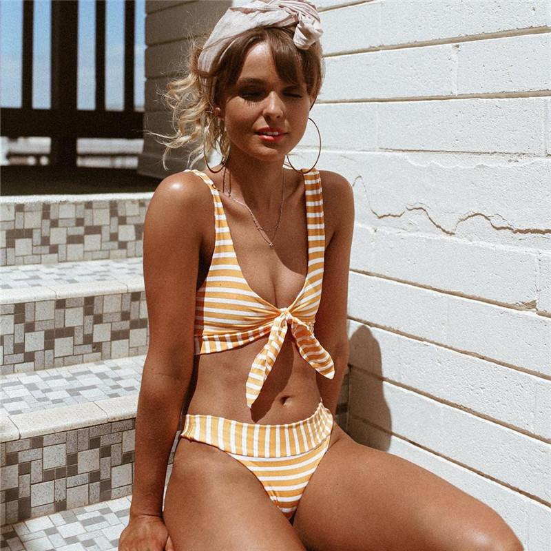 Tie Front Two Piece Swimsuit