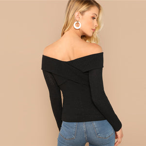 Off the Shoulder Pearl Detail Top