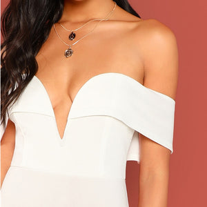 Off the Shoulder Solid Body con