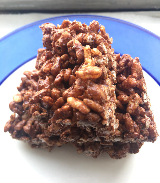 Vegan Chocolate Rice Crispy Treats