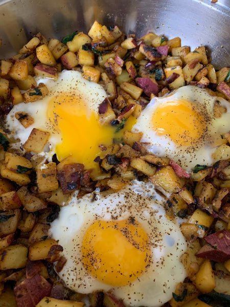 Japanese Sweet Potato Hash