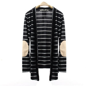 Long Sleeve Casual Striped Cardigans