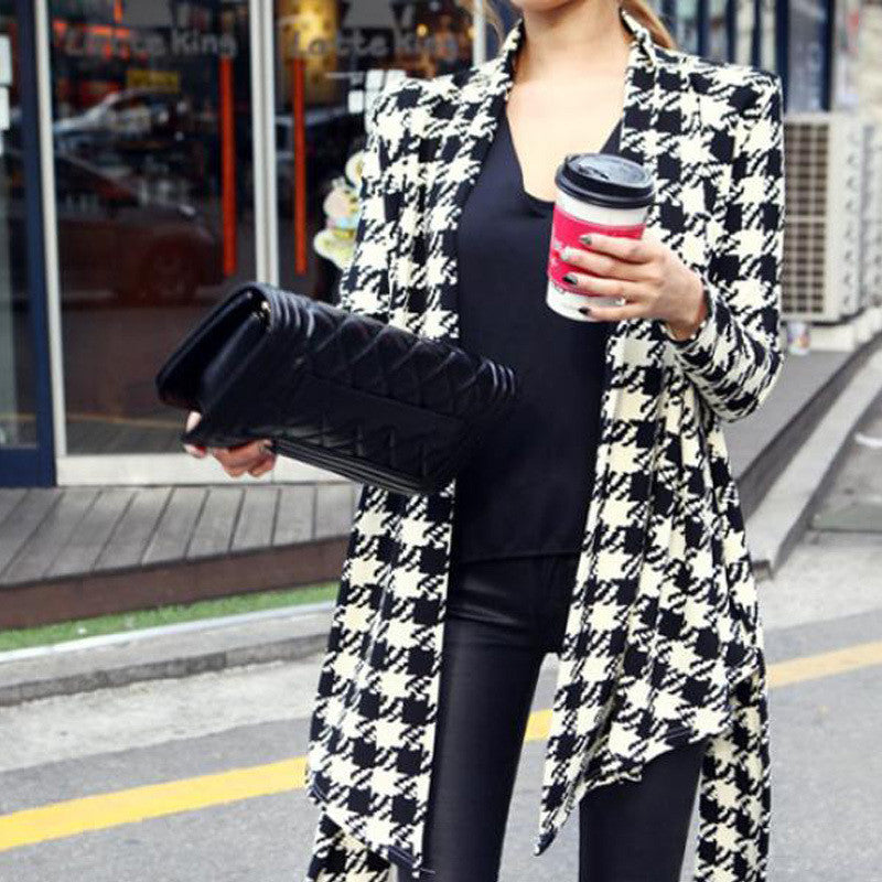 Houndstooth Pattern Thin Sweaters - Passionofcreation