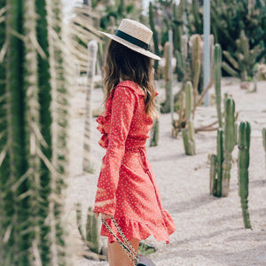 Ruffled Wrap Sun Dress