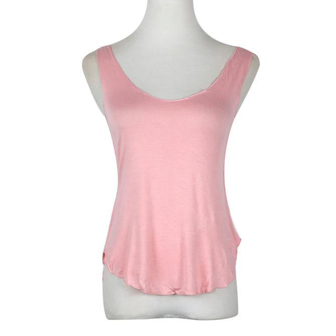 Fashion Summer Woman Lady Sleeveless V-Neck Candy Vest Loose Tank Tops T-shirt - Passionofcreation