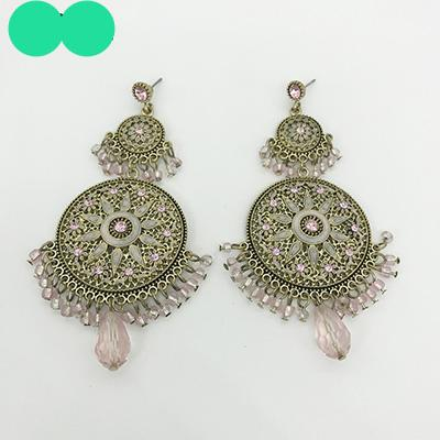 ISOLA Statement Large Chandelier Round Earrings Classic Bohemia Dangle Earrings Ethnic Charming Boho Earrings Jewelry For Woman - Passionofcreation
