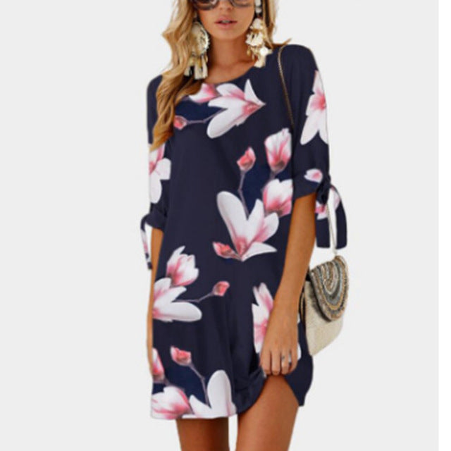 Summer Printing Soft Dress
