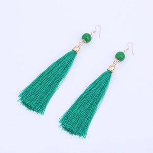 Colorful Long Tassel Earrings Ethnic Bohemian - Passionofcreation