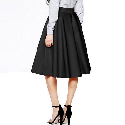 Women Stretch High Waist Dress