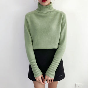 Autumn Winter Cashmere Knitted Women Sweater - Passionofcreation