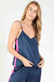 SOLID SIDE STRIPE CAMI TANK