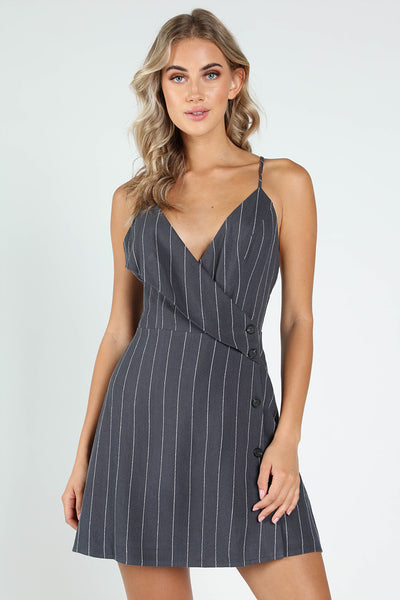 WRAP CROSS BACK DRESS