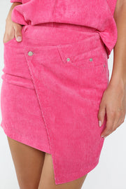 HIGH WAISTED ASYMMETRICAL SKIRT WITH POCKET