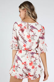 ROMANTIC FLORAL 3/4 SLEEVE ROMPER