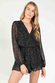 DITSY LONG SLEEVE ROMPER