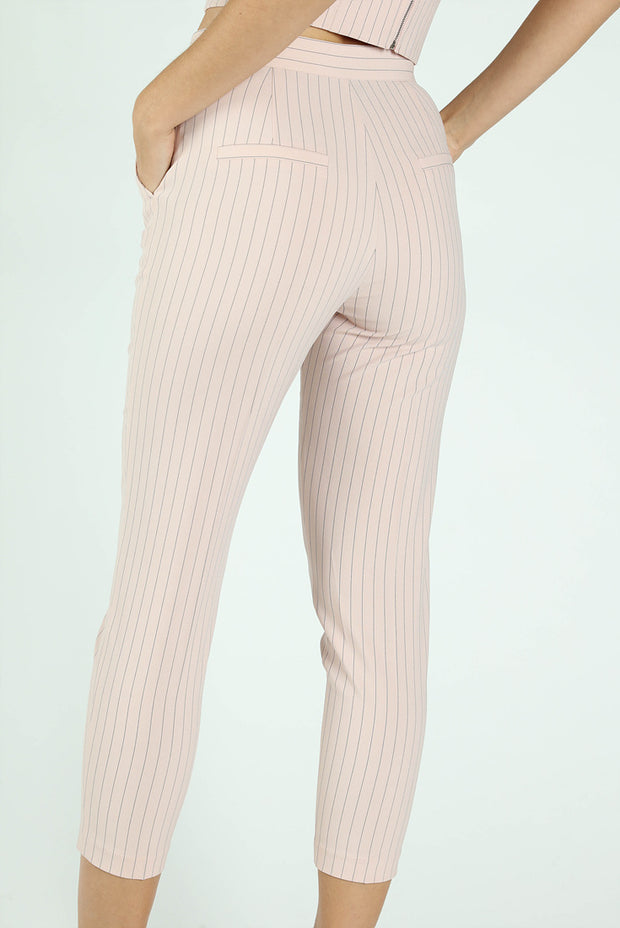 PINSTRIPE CIGARETTE PANTS