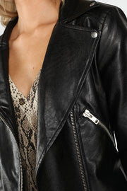 LACE UP BACK MOTO JACKET