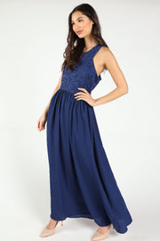 BRIDESMAID CONTRAST LACE MAXI