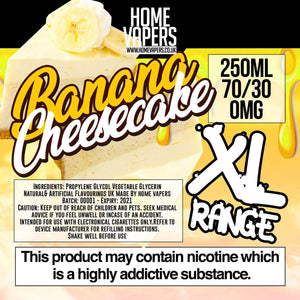 Banana Cheesecake XL - 250ml By Home Vapers - Home Vapers