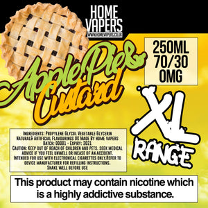 Apple Pie And Custard XL - 250ml By Home Vapers - Home Vapers