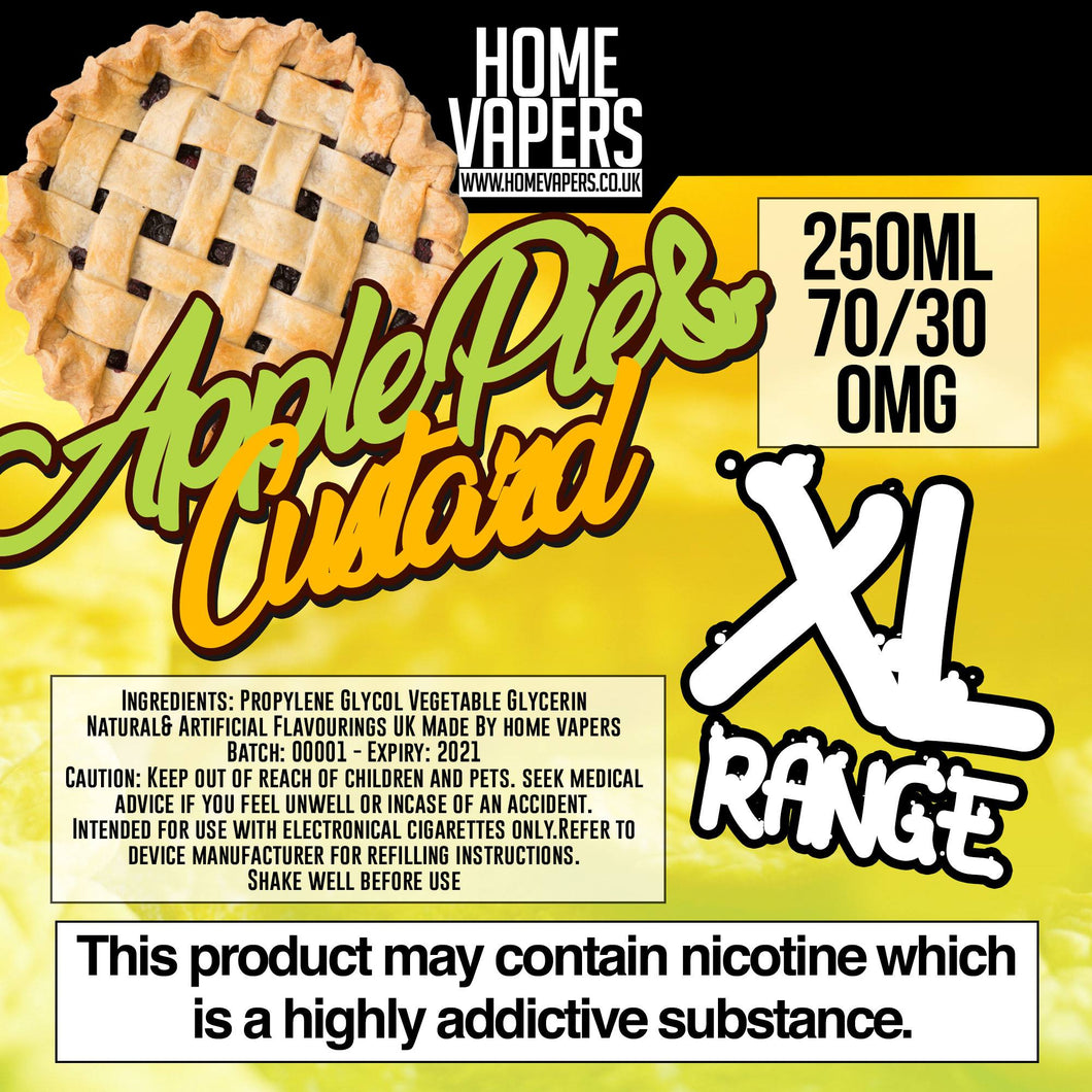 Apple Pie And Custard XL - 250ml By Home Vapers