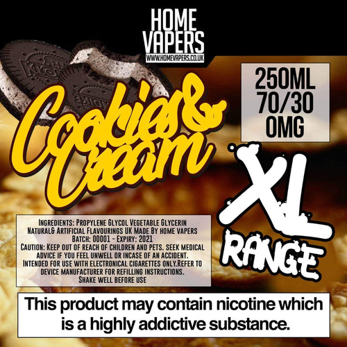 Cookies And Cream XL - 250ml By Home Vapers