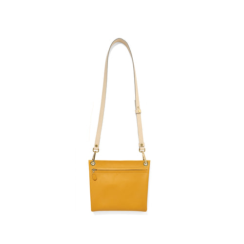 Mustard Assemblage with Leather Cross body