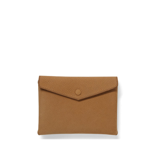 Tan Nubuck Envelope Pouch