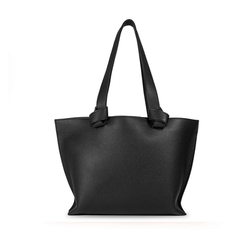 Handmade black leather Market Tote