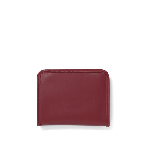 Garnet leather Demi wallet front