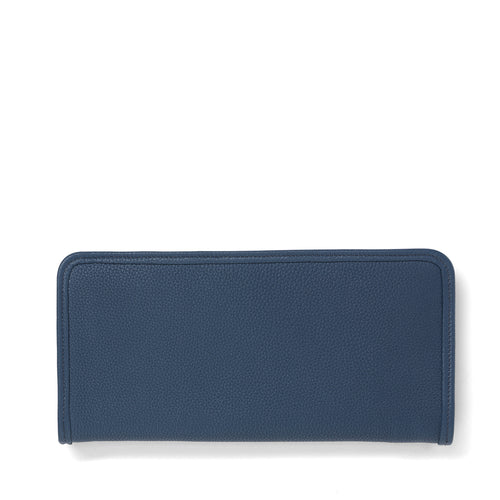 Storm leather long wallet front