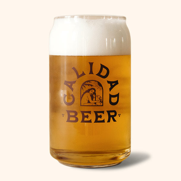 CALIDAD BEER CAN GLASS